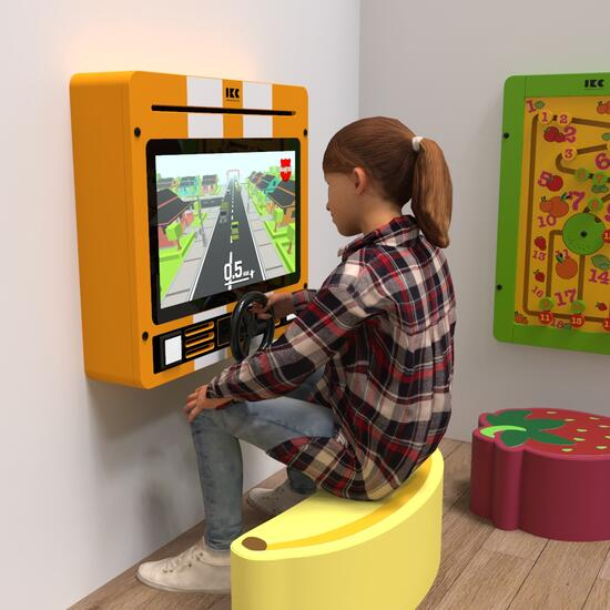 Op deze afbeelding staat een interactief speelsysteem Delta 21 inch Nitro dash