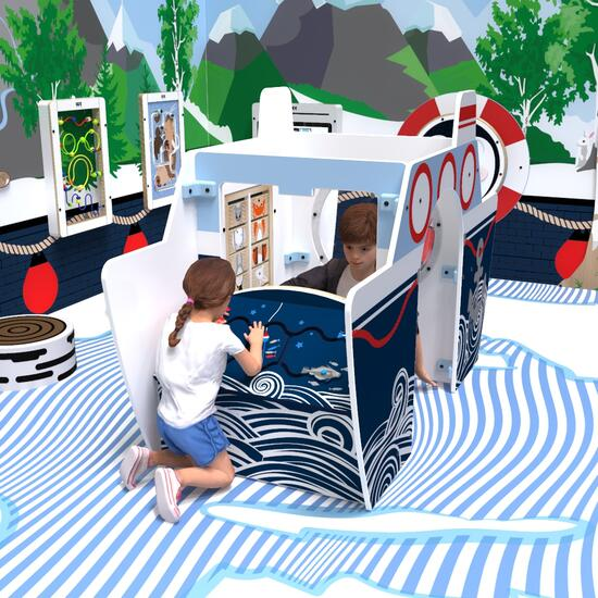This image shows a play system all aboard