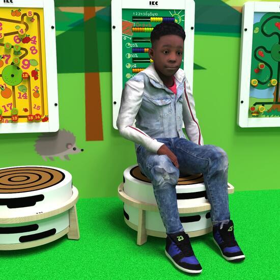 Op deze afbeelding ziet u kindermeubel softplaykruk hout