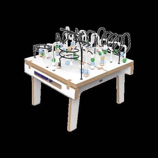 Wit houten kralentafel voor kinderen   IKC Kindermeubels