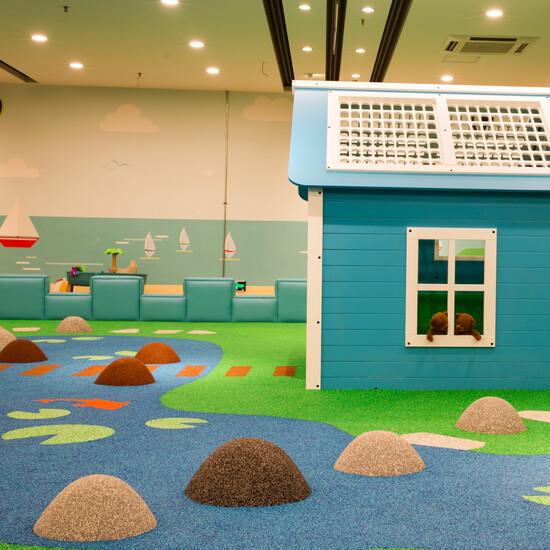 figuren van EPDM voor in een kinderhoek of speelruimte