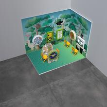 Op deze afbeelding staat een speelhoek Classic M 6 m²