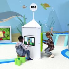 Op deze afbeelding staat een interactief speelsysteem Playtower touch white