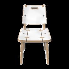 Wit houten stoel voor kinderen   IKC Kindermeubels