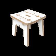 Wit houten krukje voor kinderen | IKC Kindermeubels
