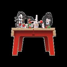 Rode houten kralentafel voor kinderen | IKC Kindermeubels
