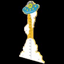 Opmeten hoe lang je al bent met een monster meetlat | IKC Speelsystemen